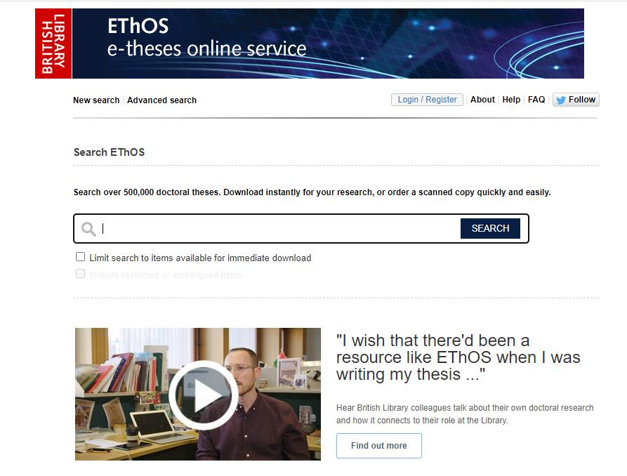 E-Theses Online Service (EThOS)