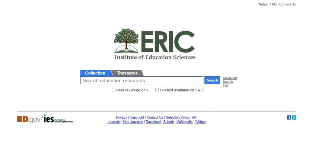 ERIC academic databases