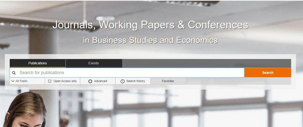 EconBiz academic research databases
