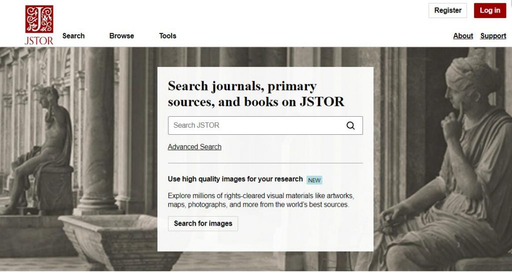 JSTOR academic research databases