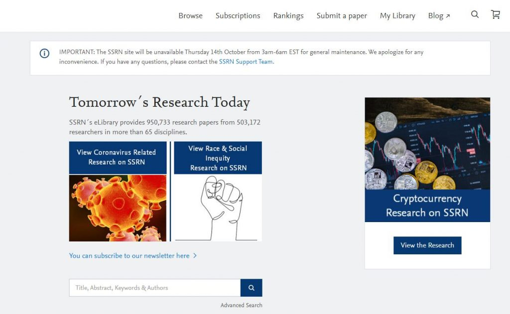 SSRN academic research databases