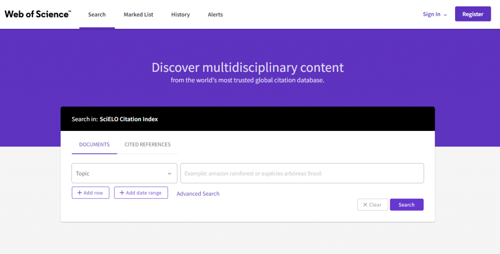 web of science academic databases